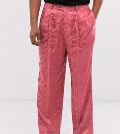 Розовые фактурные брюки с широкими штанинами Heart & Dagger - Розовый