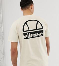 Бежевая футболка с логотипом ellesse Tall Cuba - Бежевый