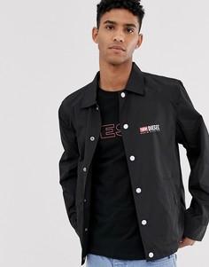 Легкая черная куртка с логотипом Diesel J-Roman-P - Черный