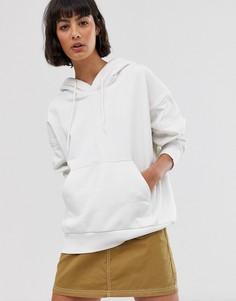 Oversize-худи белого цвета Weekday - Белый