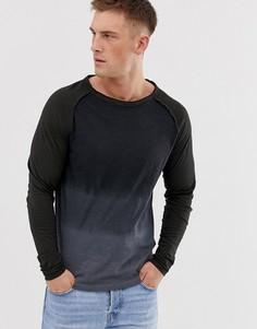 Серый лонгслив Ringspun - isaac - Серый