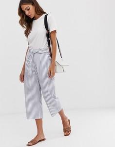 Вельветовые брюки в полоску с завязкой на поясе b.Young - Мульти