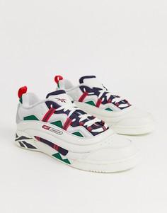 Белые классические спортивные кроссовки с воссозданным дизайном Reebok plus - Белый