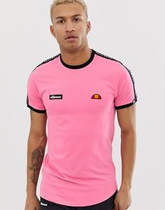 Розовая футболка с лентой ellesse Fede - Розовый