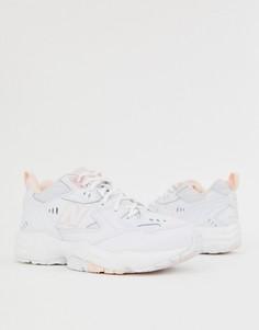 Бело-розовые кроссовки New Balance 608 - Розовый
