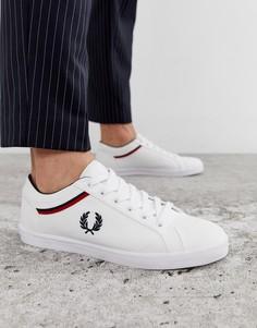 Белые парусиновые кроссовки Fred Perry baseline - Белый