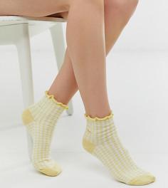 Желтые носки в клеточку Jonathan Aston - Желтый