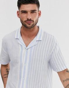 Рубашка в полоску с короткими рукавами и отложным воротником Levis - Белый