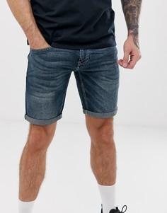 Темно-синие джинсовые шорты Celio - Синий