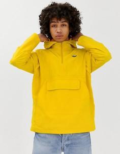 Желтая ветровка с логотипом-трилистником adidas Originals - Желтый