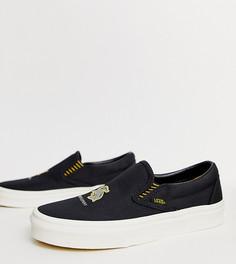 Коричневые кроссовки-слипоны Vans X Harry Potter Hufflepuff - Коричневый