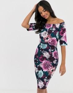 Платье-футляр со сплошным цветочным принтом Paper Dolls - Мульти