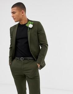 Пиджак цвета хаки River Island - Зеленый