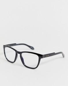 Очки с прозрачными стеклами в черной оправе Quay Australia - Черный
