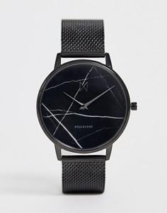 Часы с сетчатым браслетом и мраморным циферблатом MVMT Boulevard - Черный