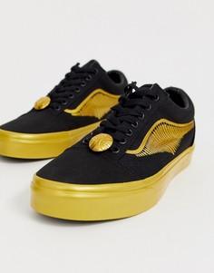 Кроссовки Vans X Harry Potter Golden Snitch Old Skool - Черный