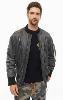 Куртка Серая куртка-бомбер с карманами Diesel