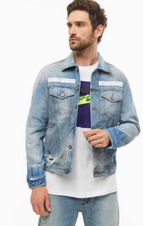 Куртка Рваная джинсовая куртка с карманами Diesel