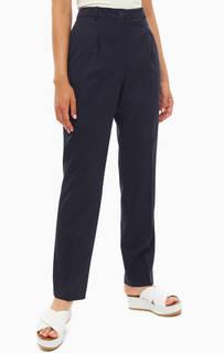 Брюки Зауженные синие брюки в классическом стиле Lacoste