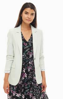 Пиджак мятного цвета с карманами Selected