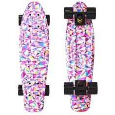 Скейт Y-SCOO Fishskateboard Print 22 Rhombus 401G-R