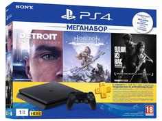 Игровая приставка Sony PlayStation 4 1 ТБ + HZD + Detroit + TLoUS + PS 3 месяца
