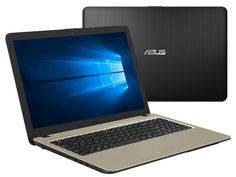Ноутбук ASUS VivoBook X540UB-DM048T 90NB0IM1-M03630 Black (Intel Core i3-6006U 2.0 GHz/4096Mb/500Gb/nVidia GeForce MX110 2048Mb/Wi-Fi/Bluetooth/Cam/15.6/1920x1080/Windows 10 64-bit)