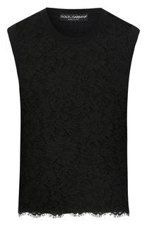 Кружевной топ Dolce & Gabbana