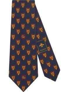 Gucci галстук с принтом