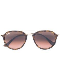 Ray-Ban солнцезащитные очки-авиаторы с эффектом черепашьего панциря