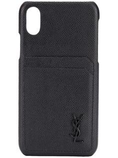 Saint Laurent чехол для iPhone XS с логотипом
