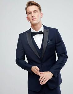 Пиджак-смокинг узкого кроя с острыми лацканами French Connection - Темно-синий