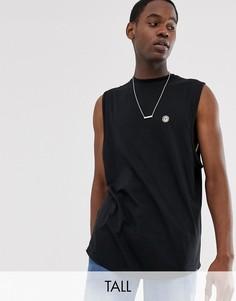 Длинная футболка с необработанным краем Le Breve Tall - Черный