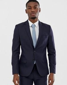Темно-синий узкий пиджак Celio - Темно-синий