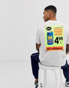 Белая футболка с принтом adidas Originals - bodega - Белый