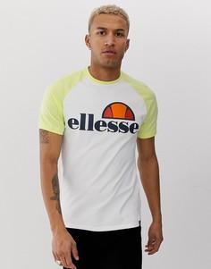 Бело-желтая футболка ellesse Cassina - Белый
