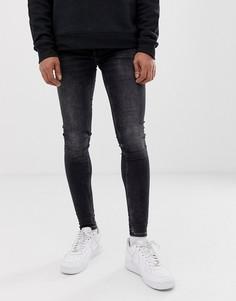 Черные супероблегающие джинсы Cheap Monday him - Черный