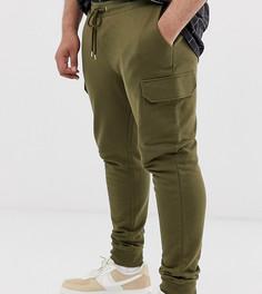 10f2487732cb Зауженные джоггеры оливкового цвета с карманами карго ASOS DESIGN Plus -  Зеленый
