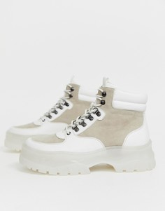 Белые ботинки на толстой подошве со шнуровкой ASOS DESIGN - Белый