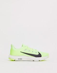 Кроссовки цвета лайма Nike Running - quest - Зеленый