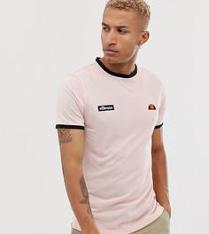 Розовая футболка с логотипом и контрастной отделкой ellesse Diego эксклюзивно для ASOS - Розовый