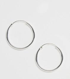 Эксклюзивные массивные серебряные серьги-кольца диаметром 40 мм Kingsley Ryan - Серебряный
