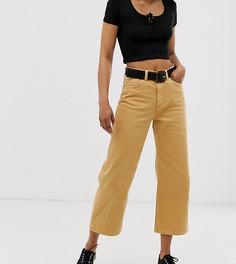 Широкие джинсы горчичного цвета из органического хлопка Monki Mozik - Желтый