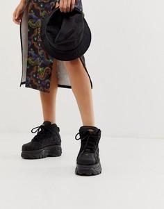Высокие черные кроссовки на массивной подошве Buffalo - Черный