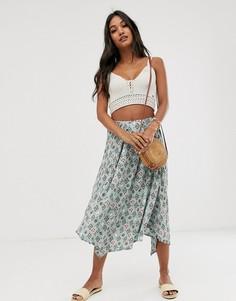 Асимметричная юбка с геометрическим принтом Vila - Мульти