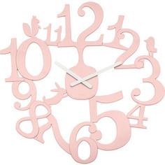 Часы настенные розовые Koziol Pip (2327638)