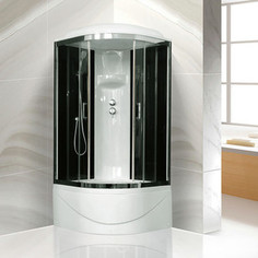 Душевая кабина Royal Bath BK6 90х90х217 стекло черное/прозрачное (RB90BK6-BT-CH)