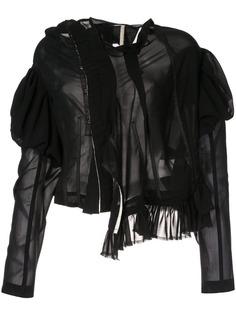 COMME DES GARÇONS PRE-OWNED полупрозрачная куртка асимметричного кроя с оборками
