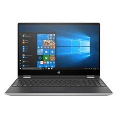 "Ноутбук HP Pavilion x360 15-dq0000ur, 15.6"", IPS, Intel Core i3 8145U 2.1ГГц, 4Гб, 16Гб Intel Optane, 1000Гб, Intel UHD Graphics 620, Windows 10, 6PS44EA, серебристый"
