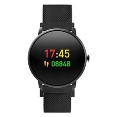 """Смарт-часы KREZ Jazz, 41мм, 0.96"""", черный / черный [sw14]"""